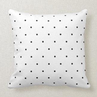 Black And White Polka Dot Spots Throw Cushion