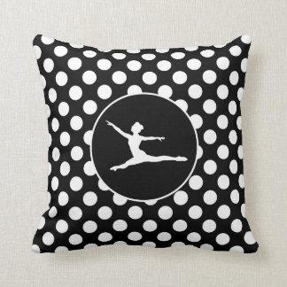 Black and White Polka Dots; Ballet Cushions
