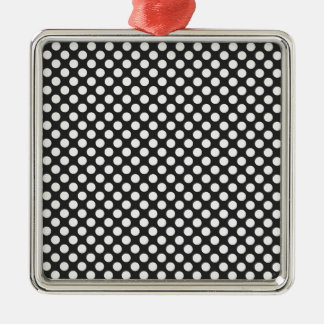 Black and White Polka Dots Christmas Ornament