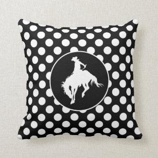 Black and White Polka Dots; Rodeo Cowboy Cushions