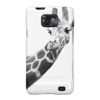 Black and white portrait of a giraffe galaxy s2 cover