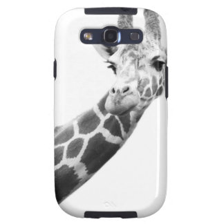Black and white portrait of a giraffe samsung galaxy SIII cover