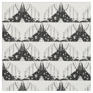 Black and White Princess Fabric