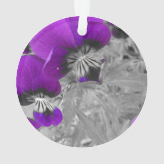 Black and White Purple Pansy Effect