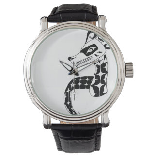 black and white sea serpent watch