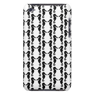 Black and White Seahorse Pern. iPod Touch Cases