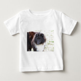 Black and White Sheltie Baby T-Shirt
