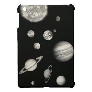 Black and White Solar System in the space iPad Mini Case