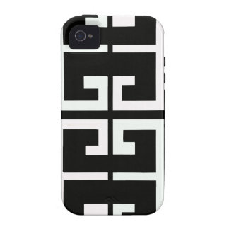 Black and White Spanish Tile iPhone 4 Cover