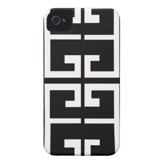 Black and White Spanish Tile iPhone 4 Case-Mate Cases