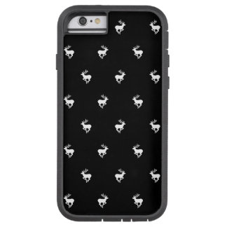 Black and White stag pattern Tough Xtreme iPhone 6 Case