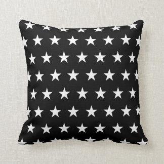 Black and White Stars Cushion
