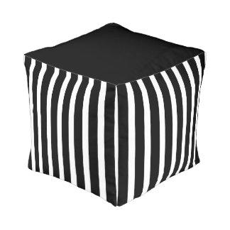 Black And White Stripe Pouf