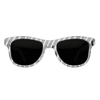 Black and White Striped Pattern Sunglasses