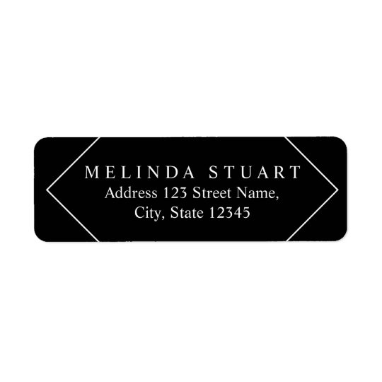 Black and White Stylish Minimalist Return Address Label
