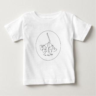 Black and White tee hee t-shirt
