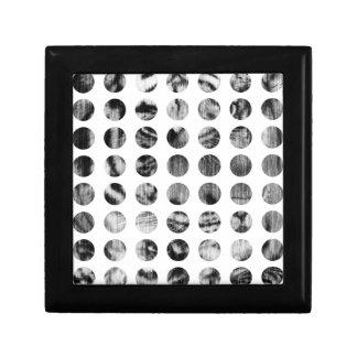 Black and White Tiger Polka Dots pattern Gift Box