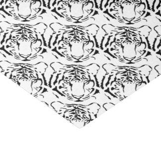Black and White Tiger Silhouette Tissue Paper
