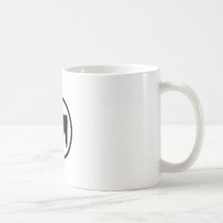 Black and white tooth coffee mug