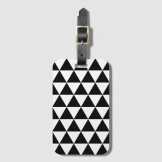 Black and White Triangle Pattern Baggage Labels Luggage Tag