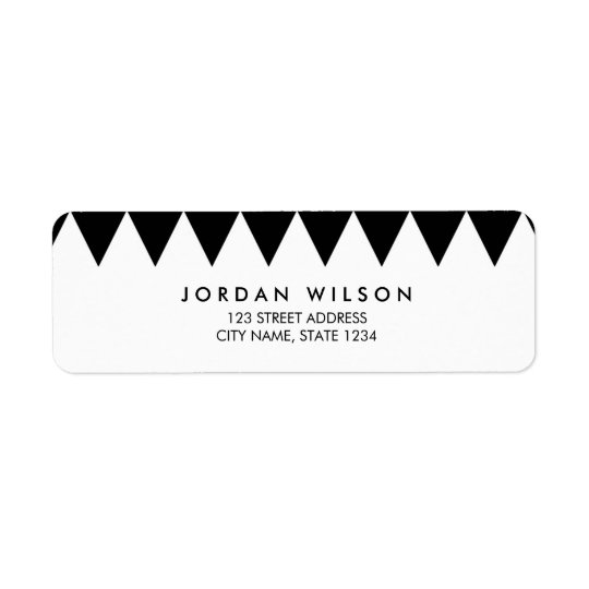 Black and White Triangle Pattern Modern Address