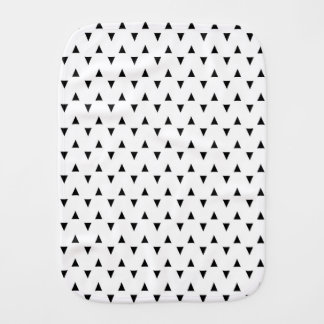 Black and White Triangles Baby Burp Cloth