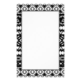 Black and White Tribal Pattern Aztec inspired Stationery