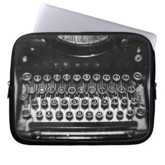 Black and White Typewriter Laptop Sleeve