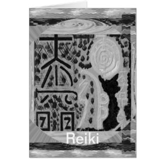 Black and White Version - Reiki n Karuna Card