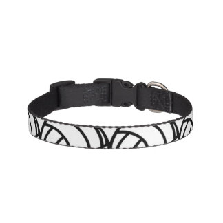 Black and White Volleyball Dog Collar