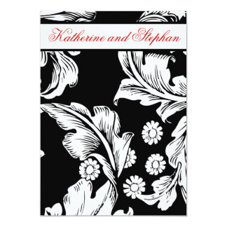 black and white wedding anniversary card