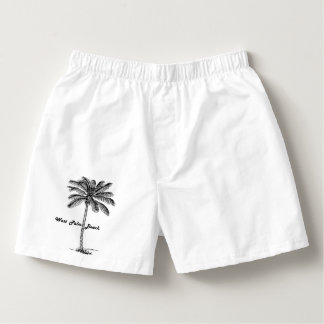 Black and white West Palm Beach & Palm design Boxers