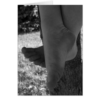 Black and White Young Feet Card