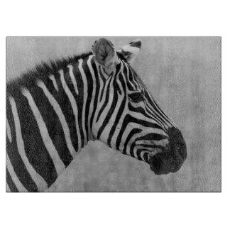 black and white zebra stripes design cutting board