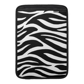 Black and White Zebra Stripes MacBook Sleeve