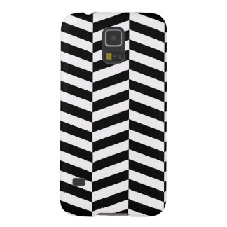 Black And White Zigzag Galaxy S5 Cover
