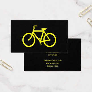 Black and Yellow Bicycle Business Card
