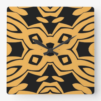 Black and yellow, funky design, clock