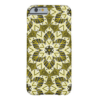 Black and yellow kaleidoscope batik iPhone case