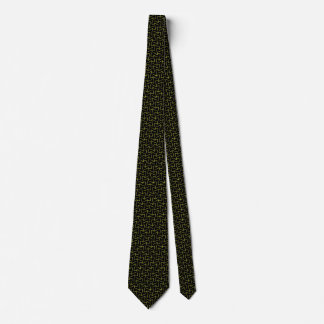 Black and Yellow Squiggles Neck Tie