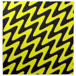 Black and Yellow Wavy Zigzag Napkin