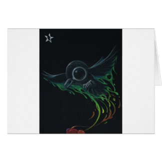 Black as pitch greeting card