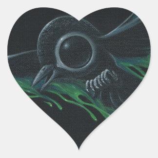 Black as pitch heart sticker