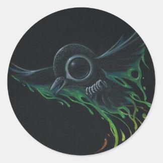 Black as pitch round sticker