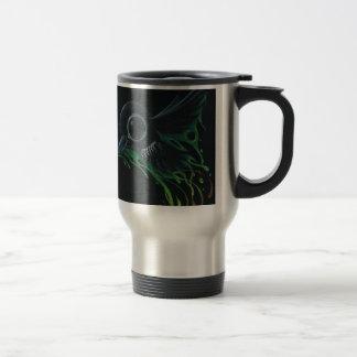 Black as pitch stainless steel travel mug
