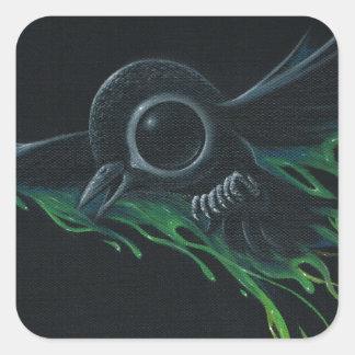 Black as pitch square sticker