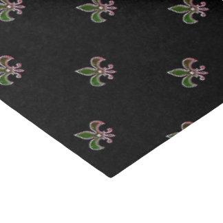 Black Background with  Fleur de Lis Tissue Paper