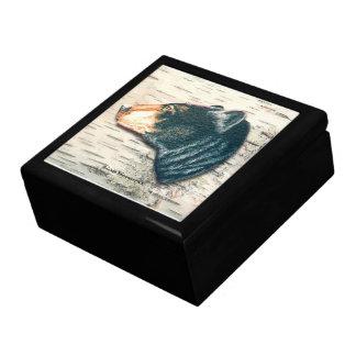 Black Bear Birch Bark Art Gift Box