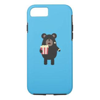 Black bear eating Popcorn Q1Q iPhone 8/7 Case