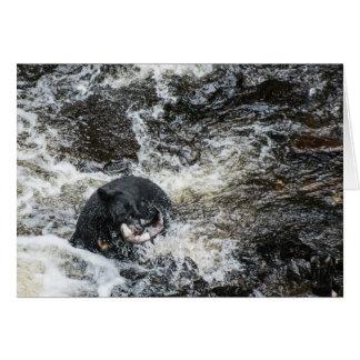Black Bear Feast Greeting Card